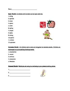 Grade 2 Spelling List Week 16