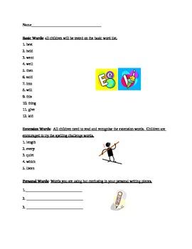 Grade 2 Spelling List Week 2