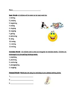 Grade 2 Spelling List Week 20