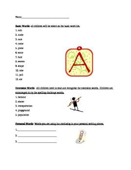 Grade 2 Spelling List Week 4