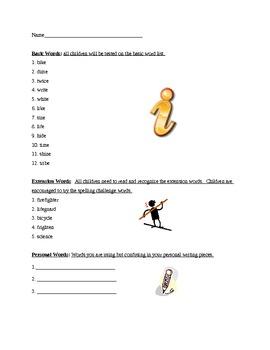 Grade 2 Spelling List Week 6