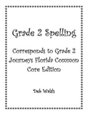 Grade 2 Spelling Lists (Journeys FL common core)