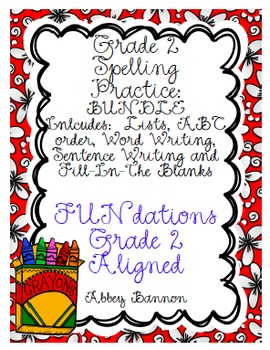 Grade 2 Spelling Practice for the Whole Year  - BUNDLE