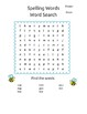 Grade 2 Spelling Words and Word Search Puzzles