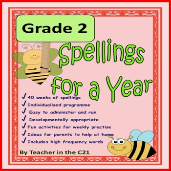Grade 2 - Spellings for a Year {Spellings and activities f