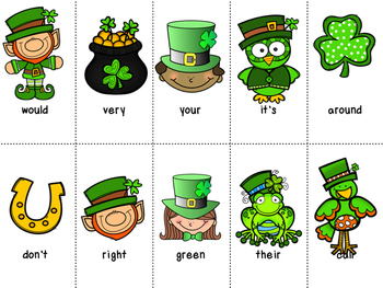 Grade 2 St. Patricks Day Dolch Word Game
