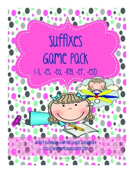 Grade 2 Suffixes (-s, -es, -ed, -ing, -er, -est) Game Pack