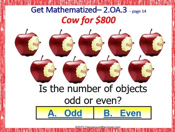 Grade 2 THINK ON YOUR FEET! Interactive Test Prep Game—Odd and Even 2.OA.3