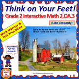 2.OA.3 Interactive Test Prep Game - Jeopardy 2nd Grade Math: Odd and Even