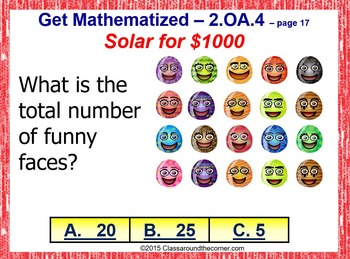 Grade 2 THINK ON YOUR FEET MATH! INTERACTIVE GAME — Addition with Arrays 2.OA.4