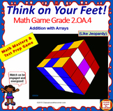 2.OA.4 INTERACTIVE TEST PREP GAME - Jeopardy 2nd Grade: Addition with Arrays
