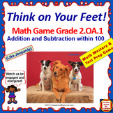 2.OA.1 Interactive Test Prep Game - Jeopardy 2nd Grade Math: Add and Subtract