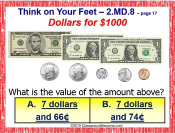 2.MD.8 Interactive Test Prep Game - Jeopardy 2nd Grade Math: MONEY MASTERY