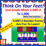 2.NBT.3 Interactive Test Prep Game - Jeopardy 2nd Grade Math: Number Forms