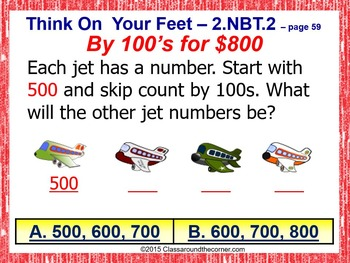 Grade 2 THINK ON YOUR FEET MATH! Interactive Test Prep Game: Skip Count 2.NBT.2