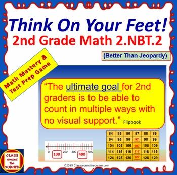 2.NBT.2 Interactive Test Prep Game - Jeopardy 2nd Grade Math: Skip Count