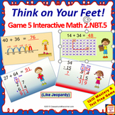 2.NBT.5 Interactive Test Prep Game - Jeopardy Grade 2 Math: Within 100