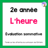 Grade 2 Telling Time Quiz (French)