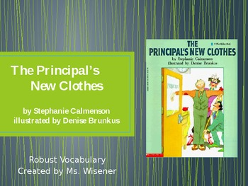 Grade 2 Text Talk Vocabulary PowerPoint_ The Principal's New Clothes