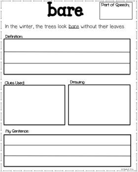 Tier 2 Vocabulary Book - Grade 2 - Context Clues - Common Core Aligned