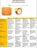 Grade 2 Time, Temperature and Calendar test