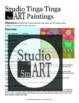 Grade 2 Tinga Tinga Inspired Watercolor Resist Painting Lesson