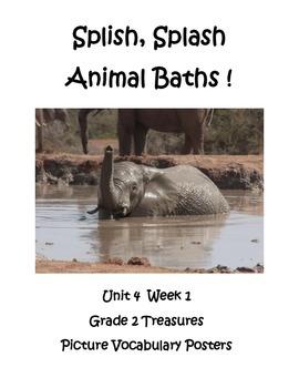 Splish Splash Animal Baths Picture Vocabulary Posters Grad