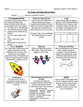 Grade 2 Unit 3 Wonders Choice Boards