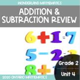Grade 2, Unit 4: Addition and Subtraction Review (Wonderla