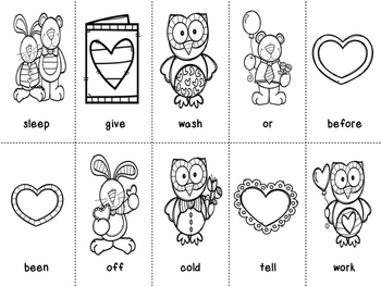 Grade 2 Valentines Day Dolch Word Game
