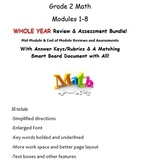 Grade 2, WHOLE YEAR Modules 1-8, Mid & End of Mod Reviews