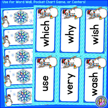 Grade 2: WINTER Dolch Sight Word Cards/Pocket Chart Game