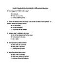 Grade 2 Wonder Works Program Unit 2 Week 2 Differentiated Questions