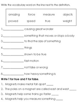 Grade 2 Wonders Unit 3 Tests