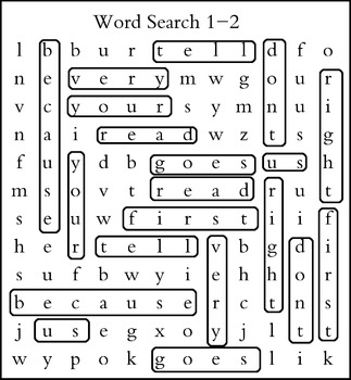 Grade 2 Word Search -55 pages with answer keys