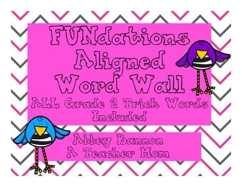 Grade 2 Word Wall - Letter and Words
