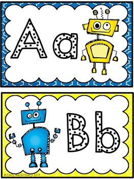 Grade 2 Word Wall: Robot Theme (Over 90 Words)