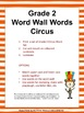 Grade 2 Word Wall Words - Circus