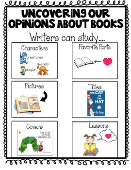 Grade 2 Writing Opinion Anchor Charts