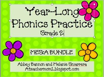 Grade 2 Year- Long Phonics Practice Packs!