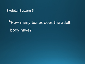 Grade 2 and 3 Body Systems Jeopardy 30 Slides!