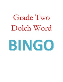 Grade 2 two Dolch Word Bingo Game - Full list - 6 boards - color coded