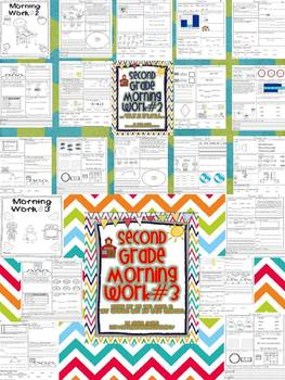 2nd Grade Math and Literacy Common Core Morning Work Months 1-5 of School