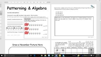 Grade 3 2016/2017 Calendar with Math and Language Curriculum Activities