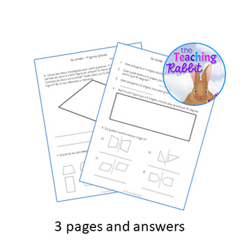 Grade 3 2D Shapes Test (French)