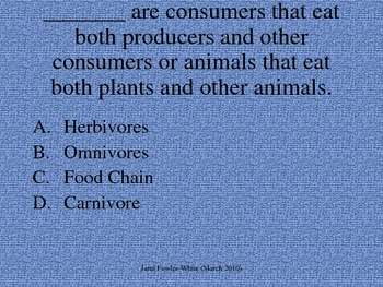 Grade 3-4: Food Chains/Ecosystemss