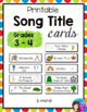 Grade 3 - 4 Printable Song Title Cards, over 35 Kodaly Folk Songs and Games