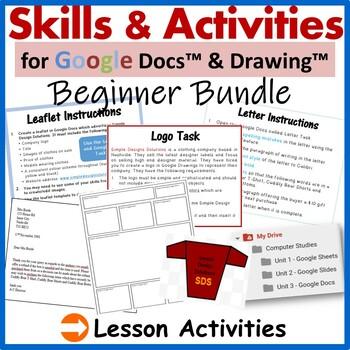 Grade 3-5: Google Docs & Drawings Activity Pack