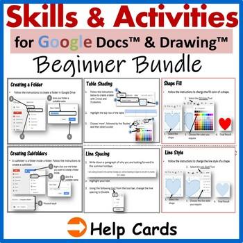 Google Docs & Drawings Skills & Activities Bundle