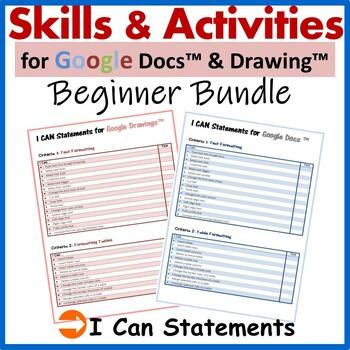 Beginners Skills & Activities Lessons Bundle for Google Docs™ & Google Drawings™